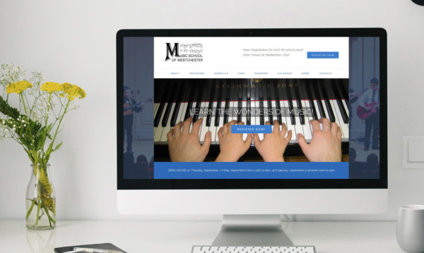 Music School of Westchester website at Beverley Designs