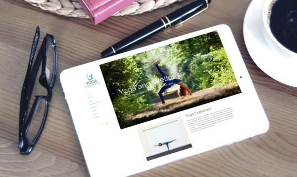 Yoga Food & Mood website at Beverley Designs